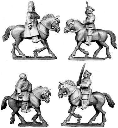 Mounted Chinese Officers