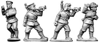 Chinese Buglers and Standard-Bearers