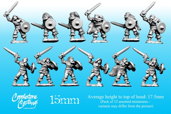 15mm Northlander Warriors with Swords