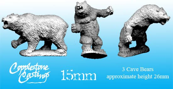 15mm Cave Bears