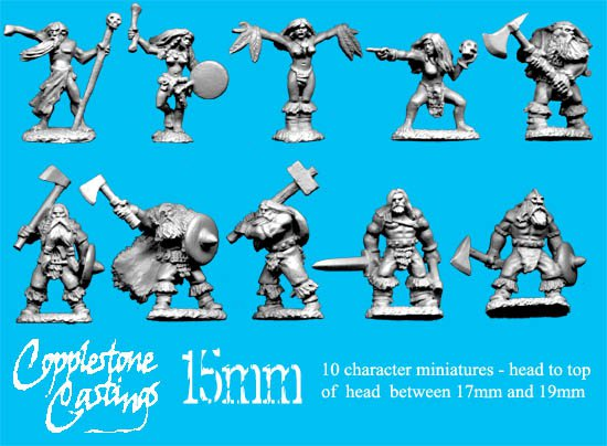 15mm Northlander Characters