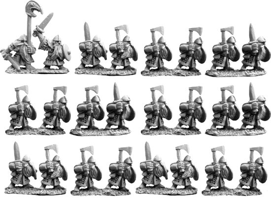 10mm Dwarf Warriors