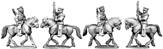 Chinese Cavalry in Peaked Caps