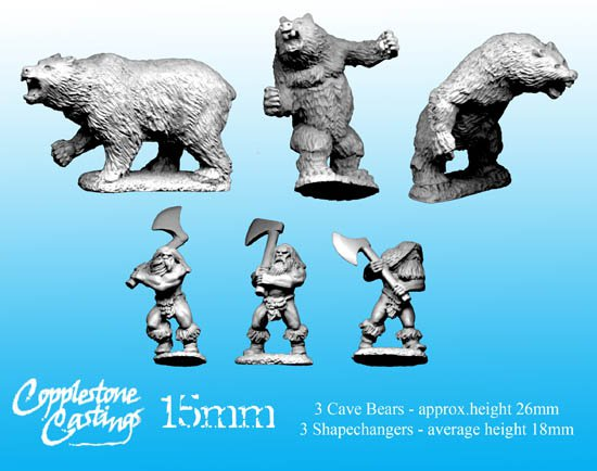 15mm Shapechangers and Cave Bears