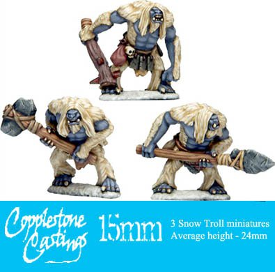 15mm Snow Trolls