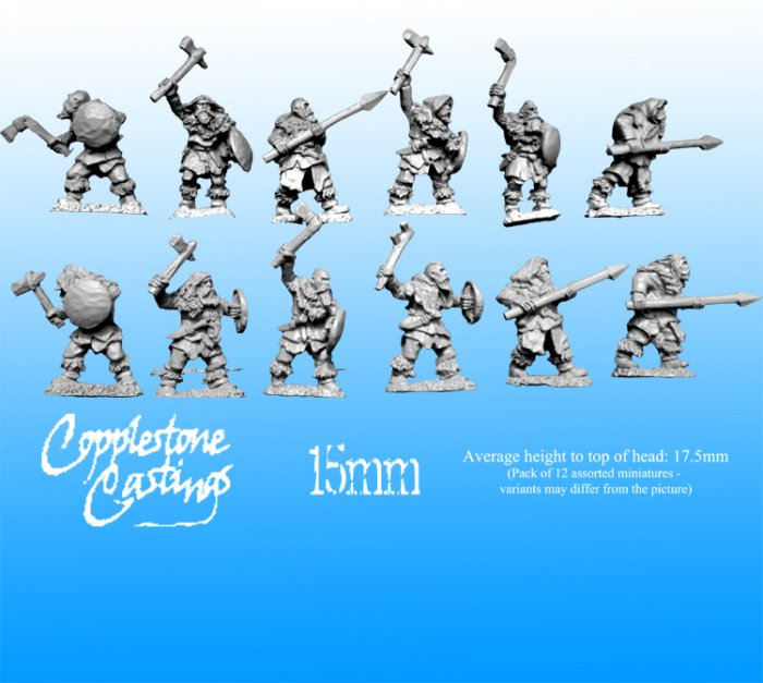 FM25 - 15mm Ice Tribe Warriors - Copplestone Castings