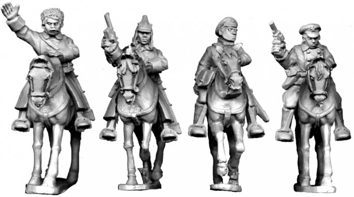 Mounted Bolshevik Officers